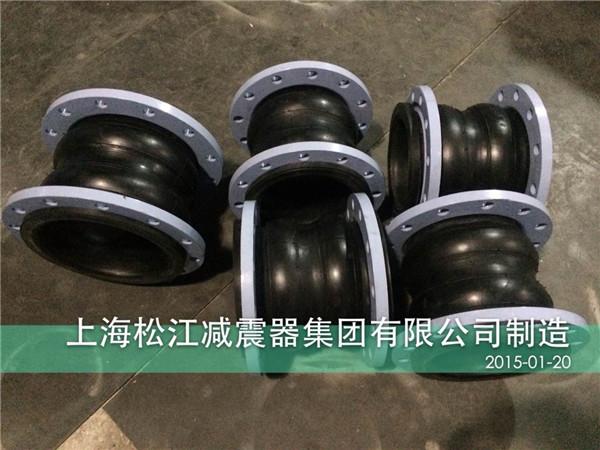 国标10kg双球橡胶软接头★北京某酒店水泵房配套